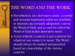 the word and the work15