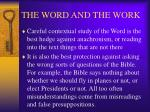 the word and the work16