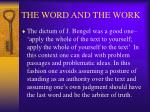 the word and the work18