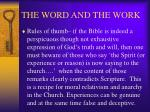 the word and the work20