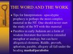 the word and the work24