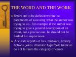 the word and the work25