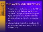 the word and the work26
