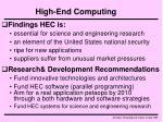 high end computing
