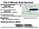 the 5 minute rule derived