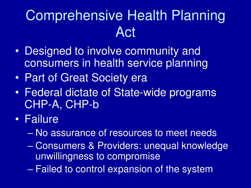 Comprehensive Health Planning Act