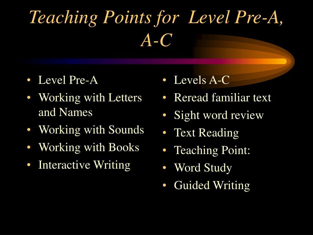 Level Pre-A