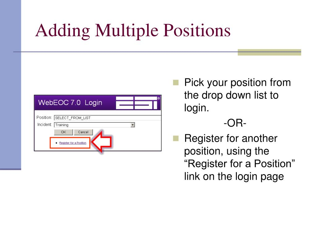 Adding Multiple Positions