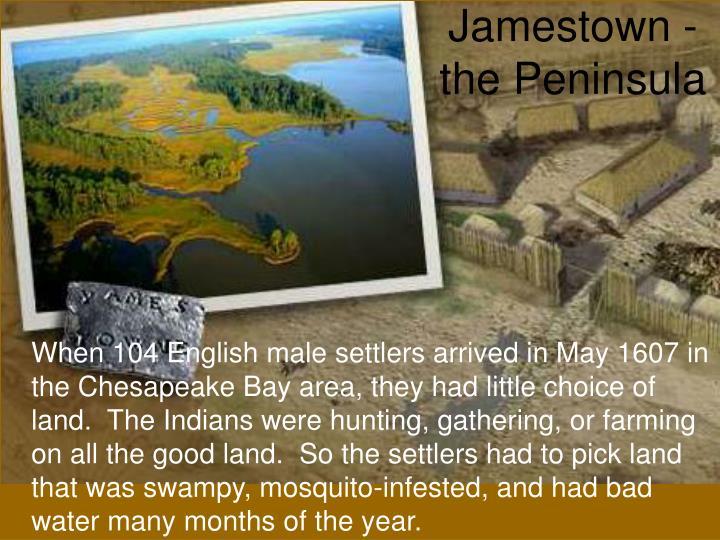 Jamestown the peninsula
