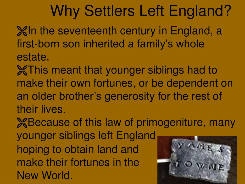 Why Settlers Left England?