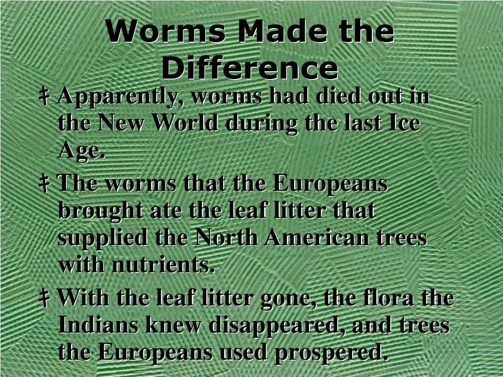 Worms Made the Difference