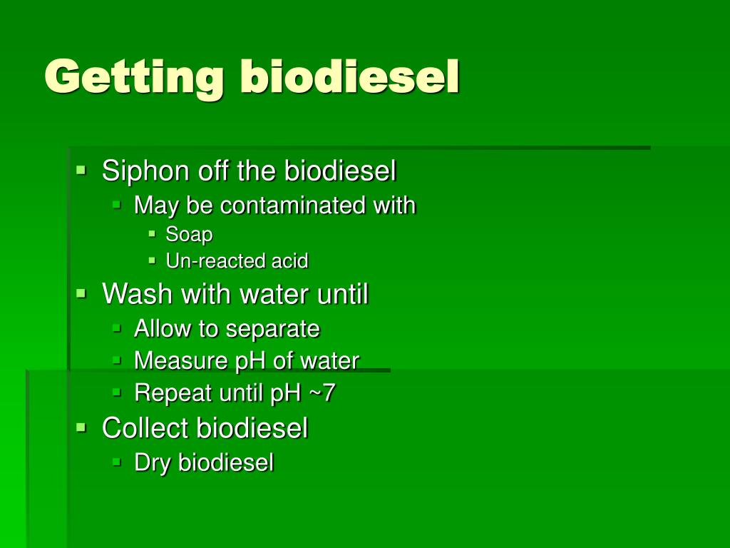 Getting biodiesel