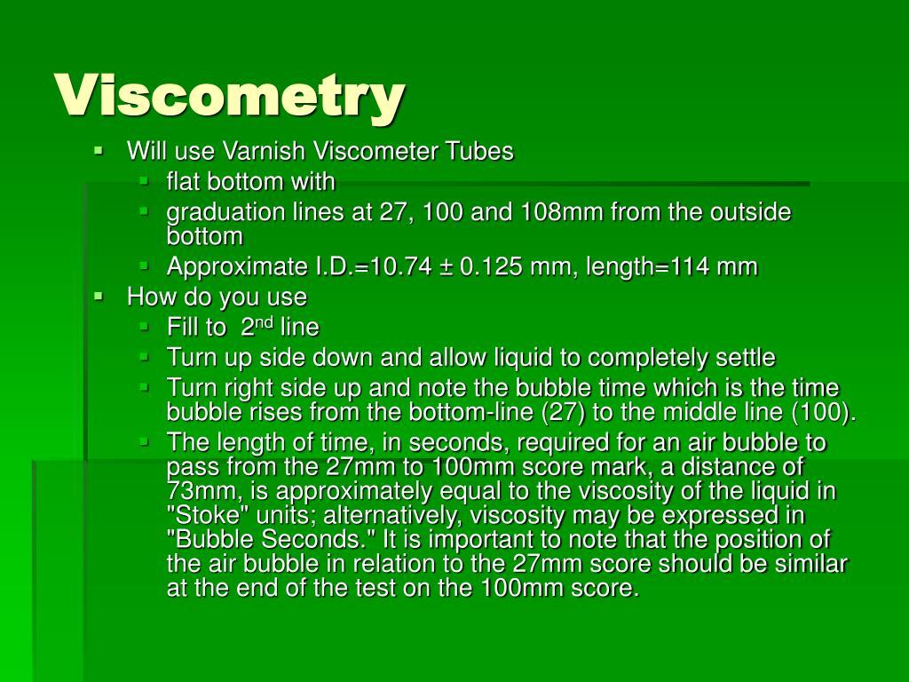 Viscometry