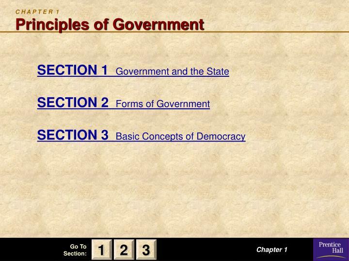 C h a p t e r 1 principles of government