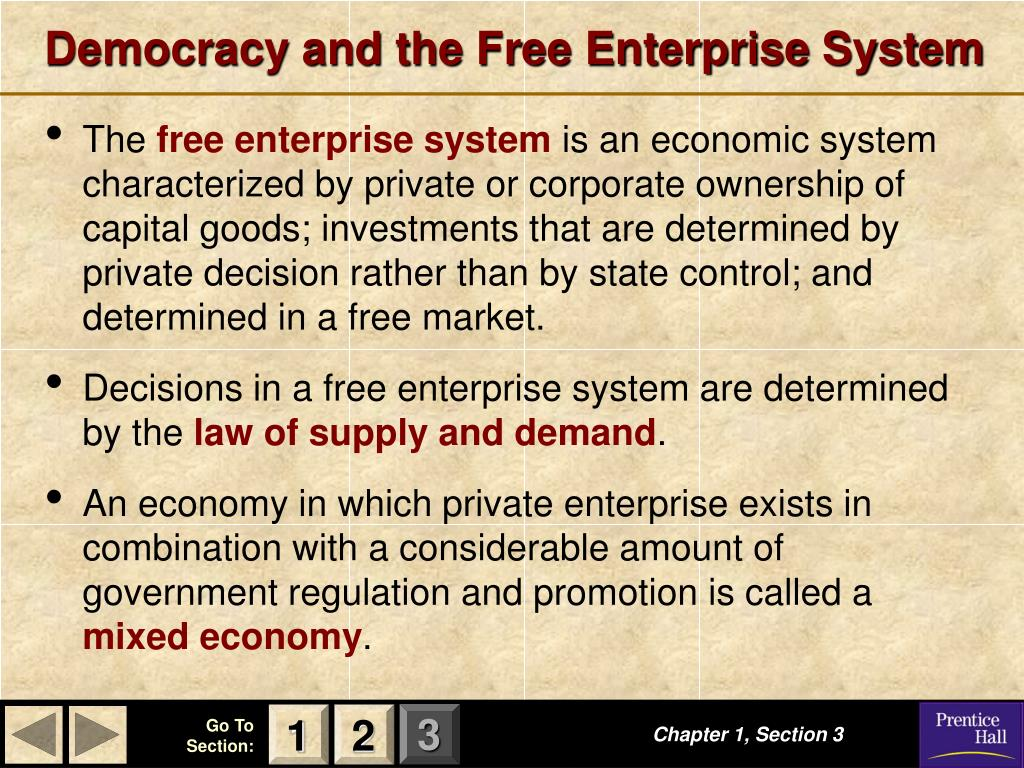 Democracy and the Free Enterprise System