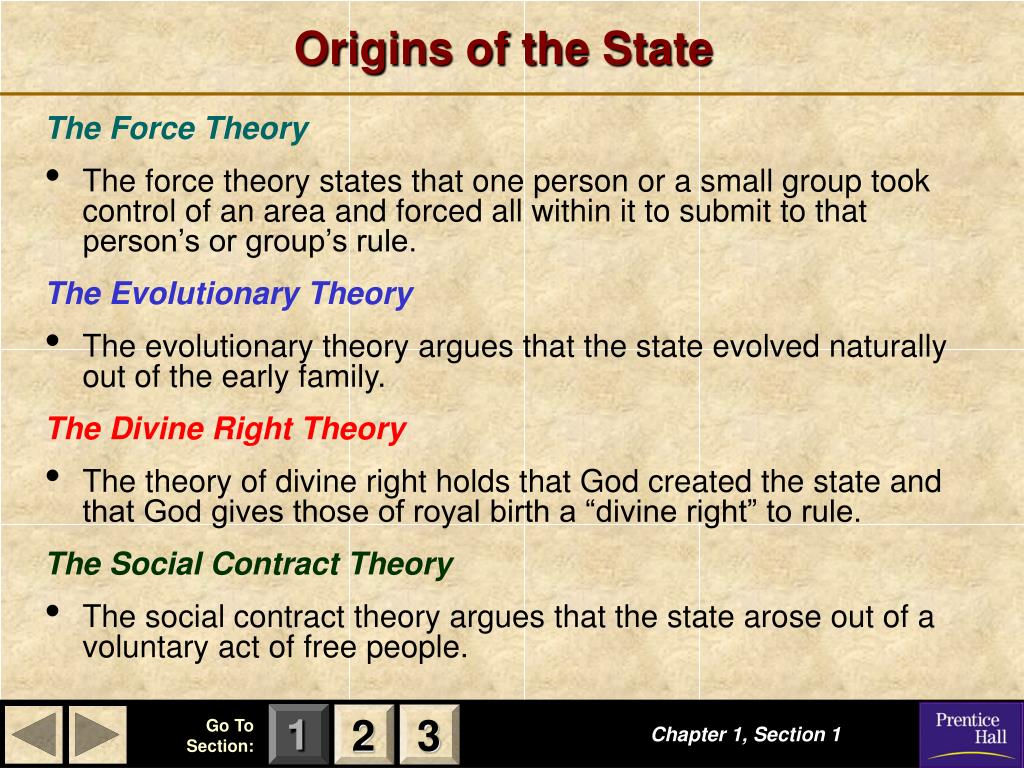 Origins of the State