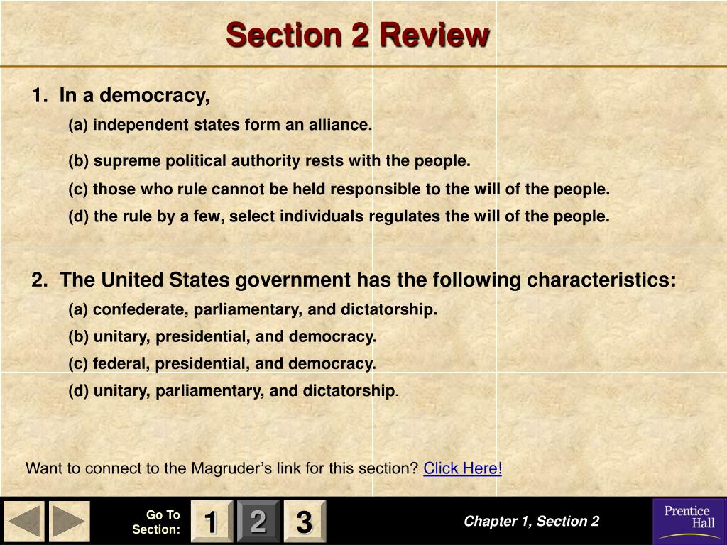 Section 2 Review