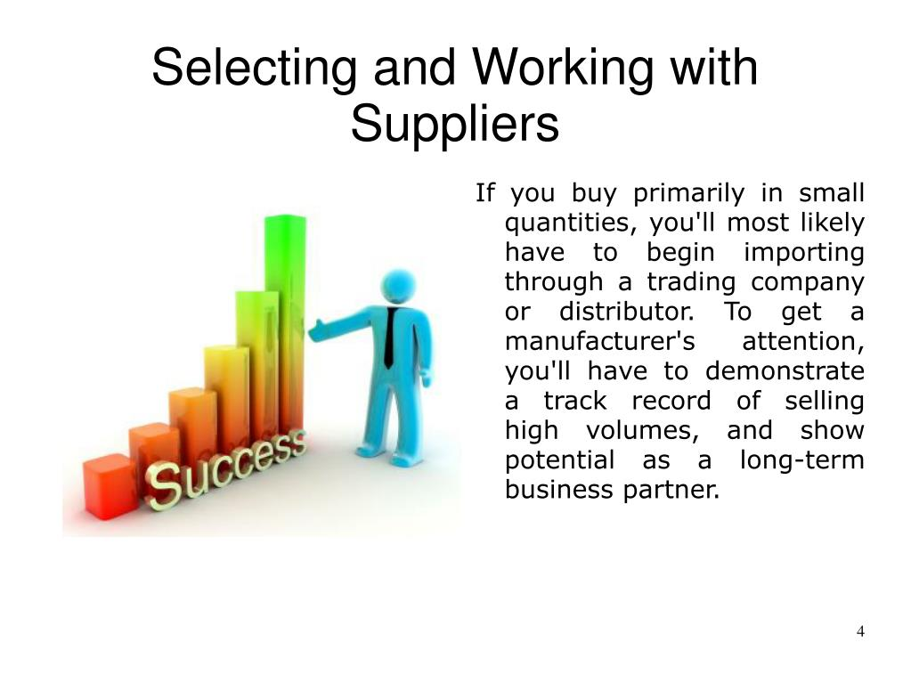 Selecting and Working with Suppliers