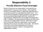 responsibility 5 provide effective fiscal oversight