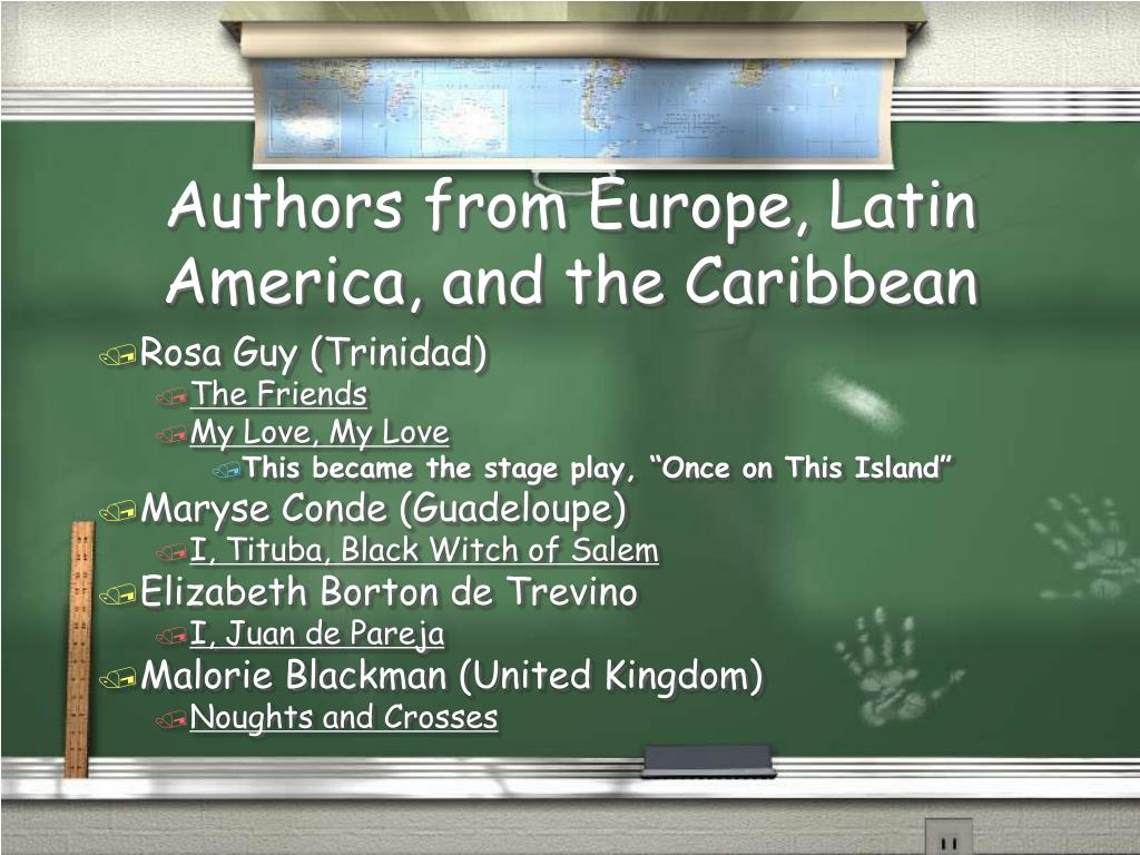 Authors from Europe, Latin America, and the Caribbean