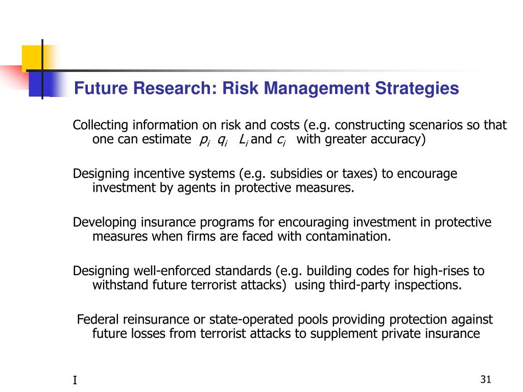 Future Research: Risk Management Strategies