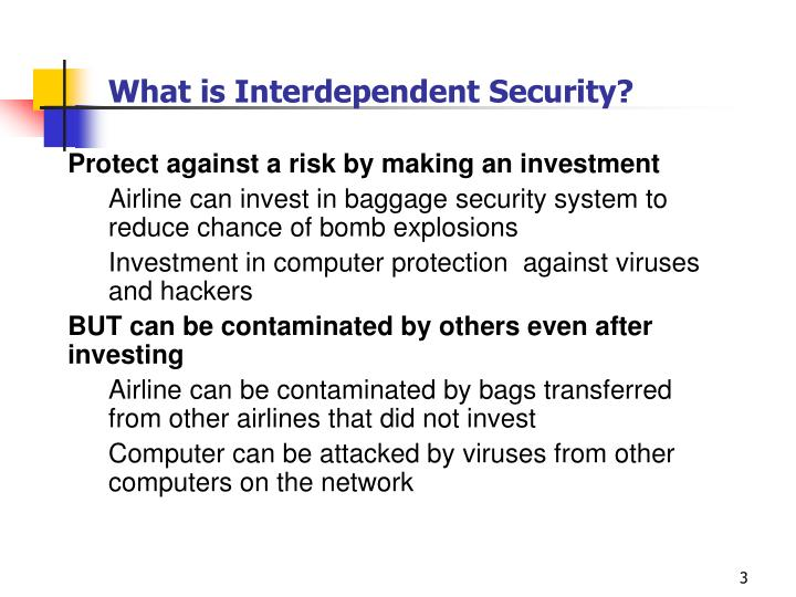 What is interdependent security