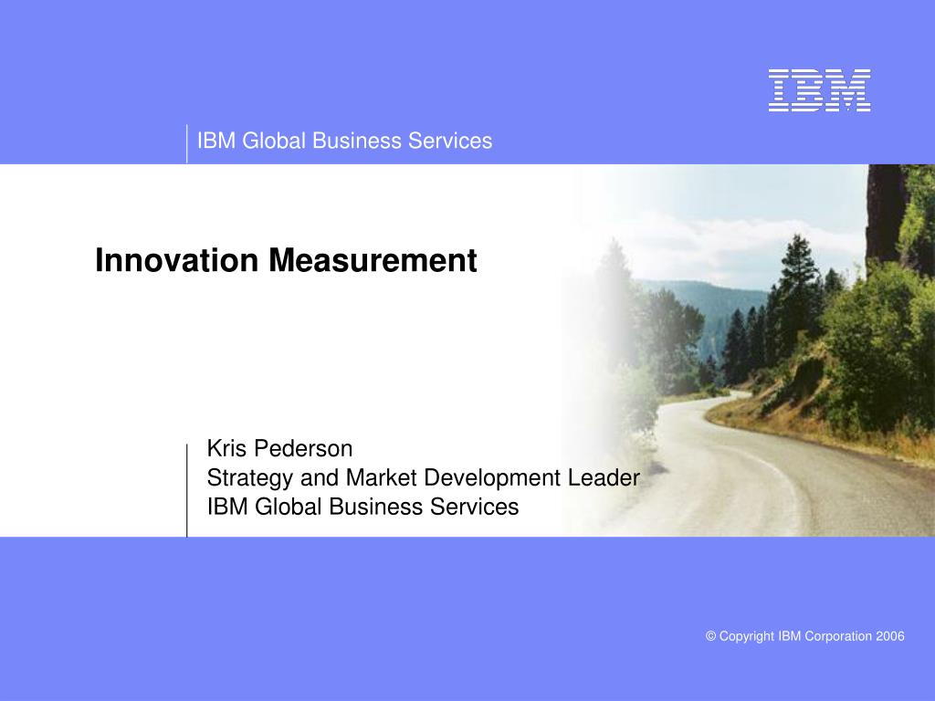 innovation measurement l.