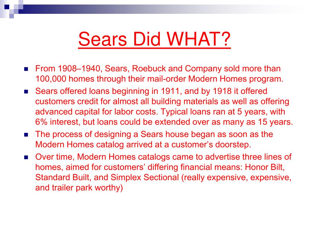 Sears Did WHAT?