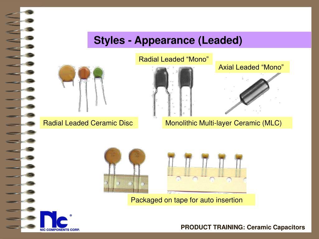 Styles - Appearance (Leaded)