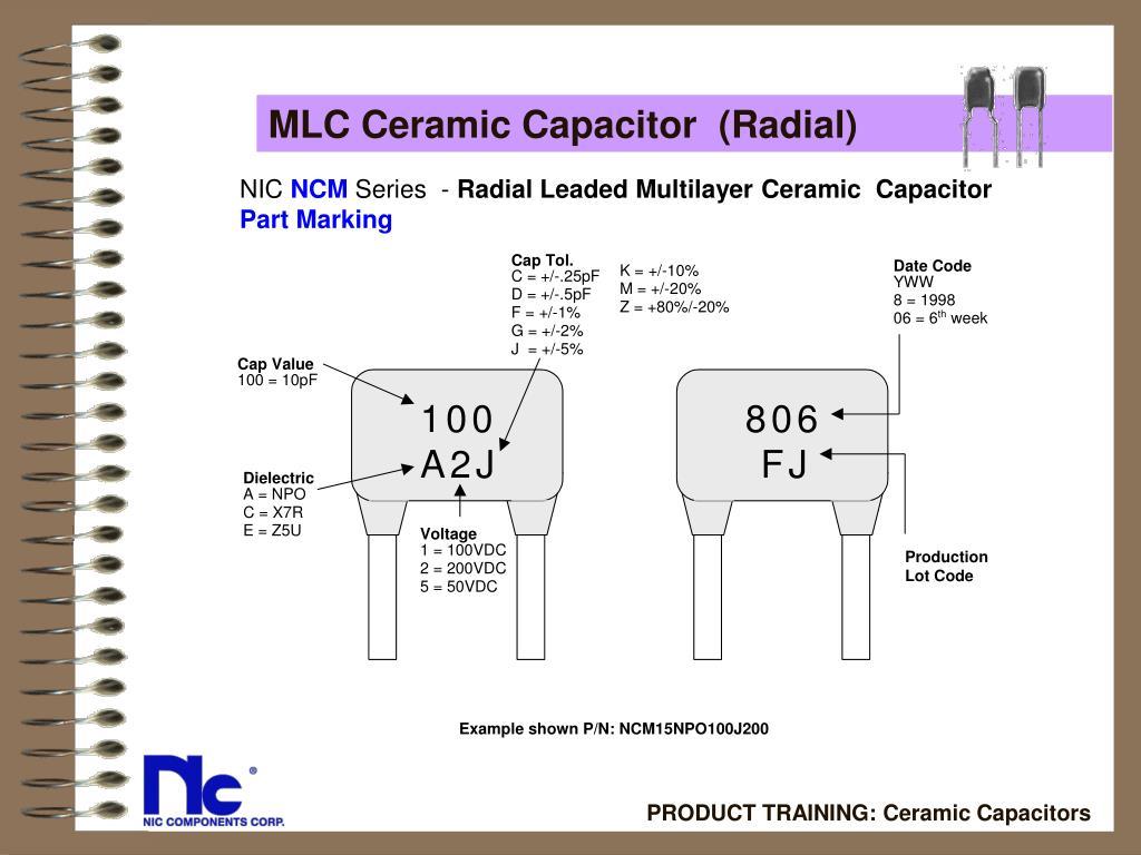 MLC Ceramic Capacitor  (Radial)