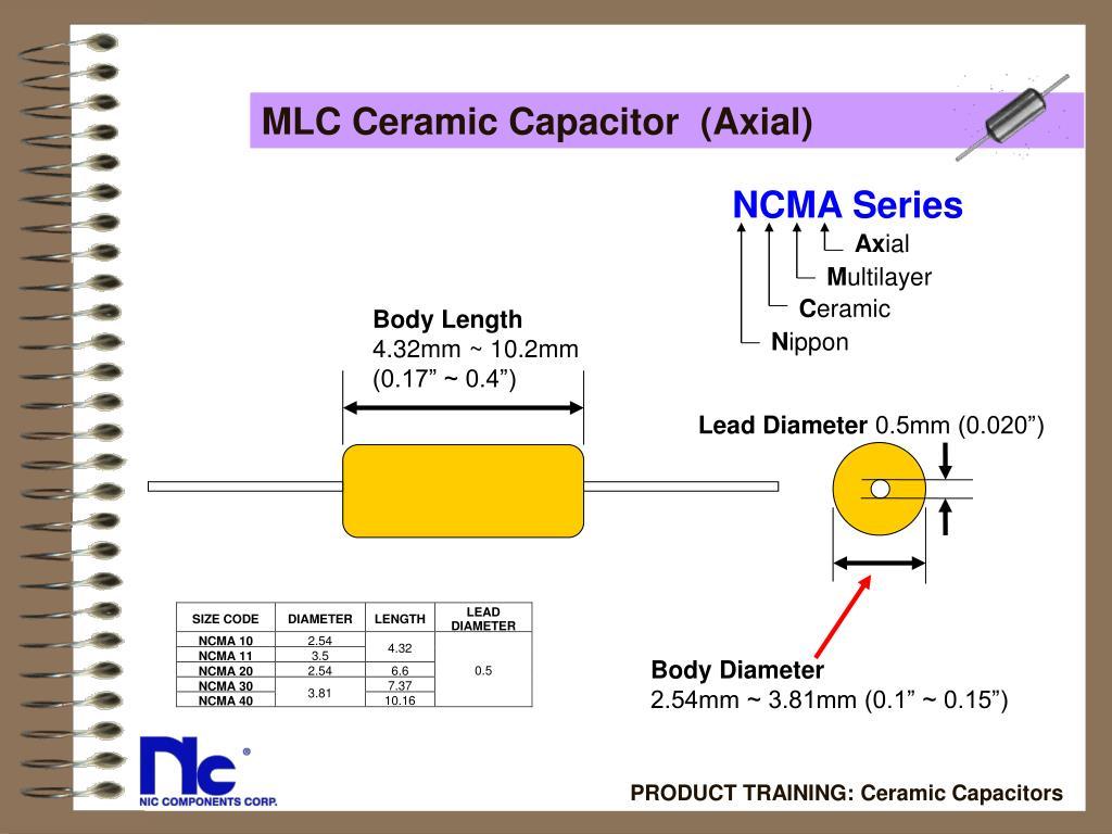 MLC Ceramic Capacitor  (Axial)