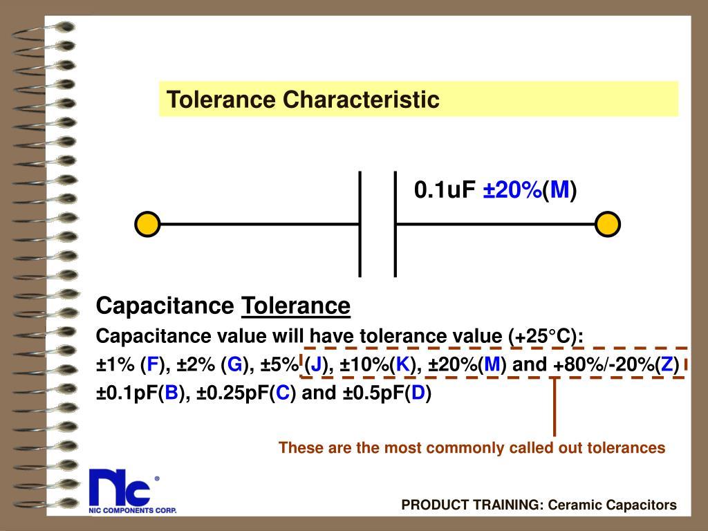 Tolerance Characteristic