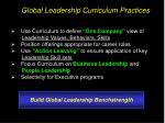 global leadership curriculum practices