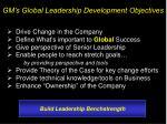 gm s global leadership development objectives