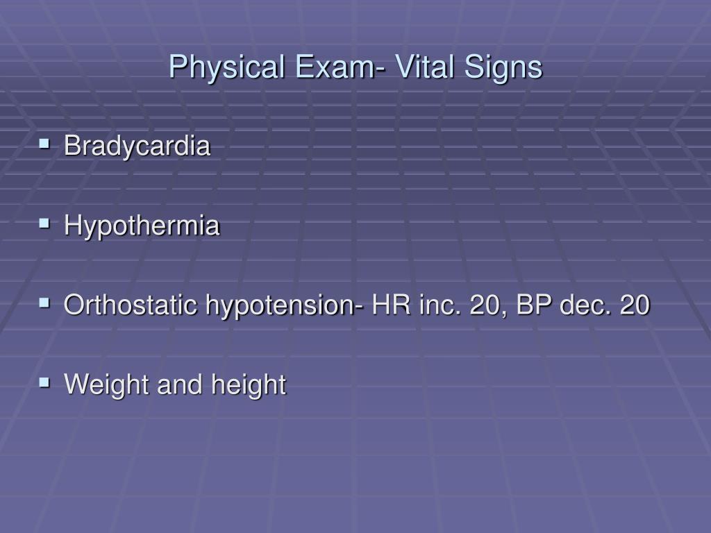 Physical Exam- Vital Signs