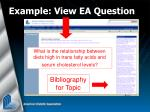 example view ea question