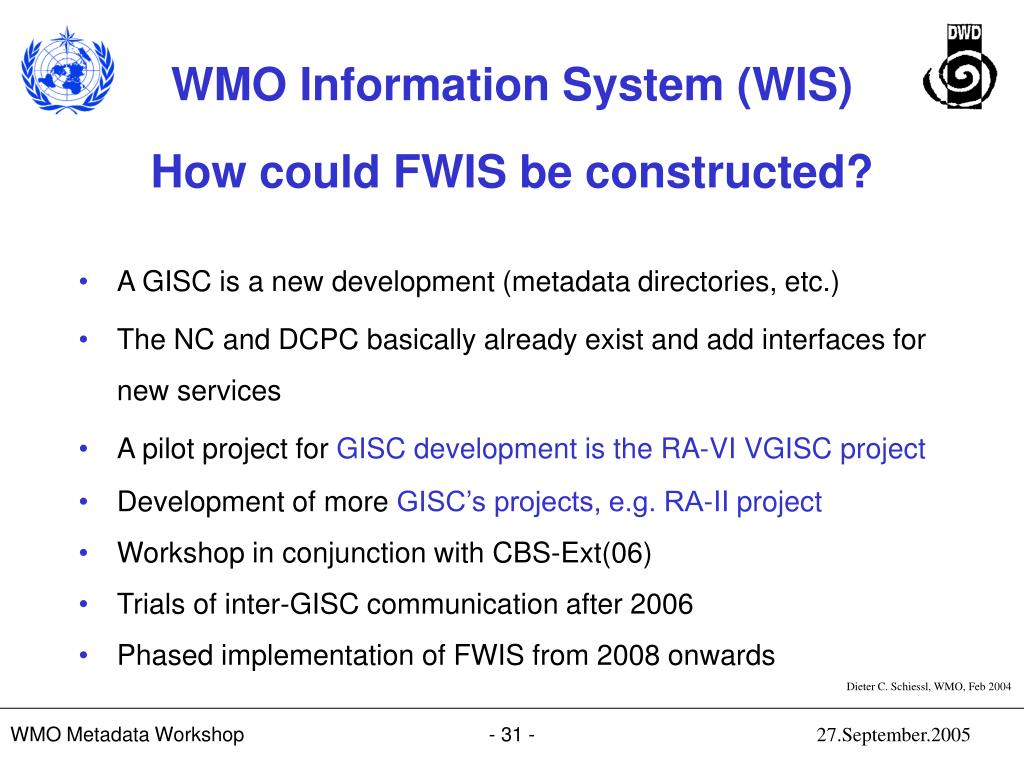How could FWIS be constructed?