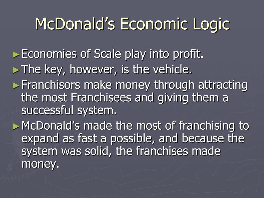 McDonald's Economic Logic