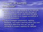how can all teachers contribute
