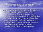 some strategies to consider