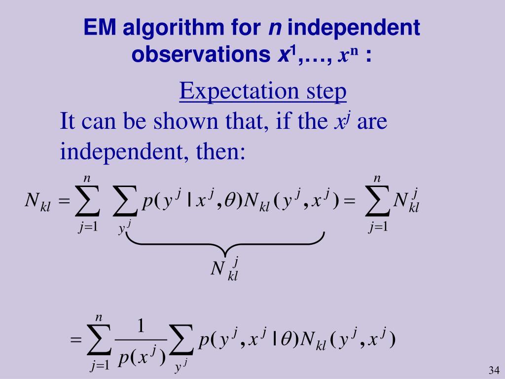 EM algorithm for