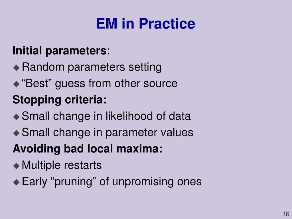 EM in Practice
