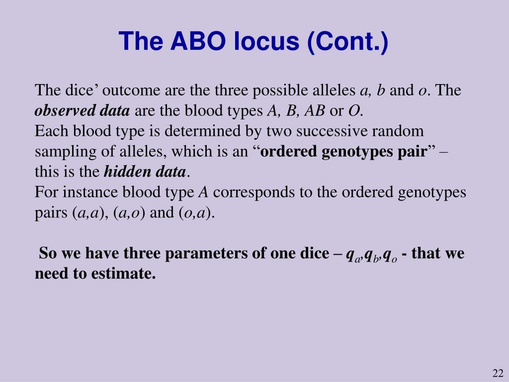 The ABO locus (Cont.)