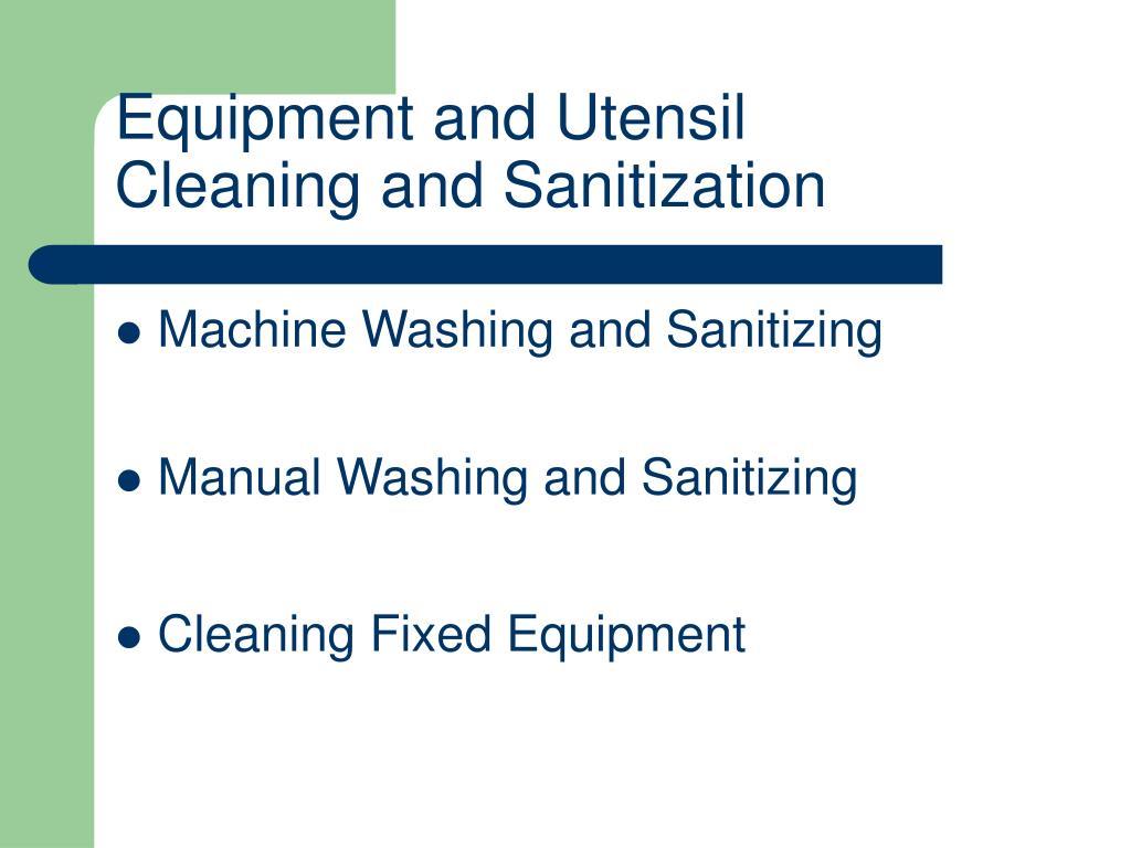 Equipment and Utensil