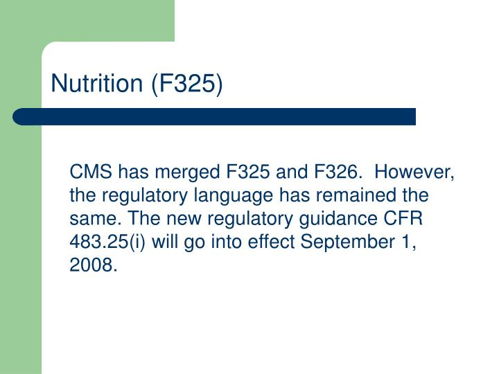 Nutrition f325