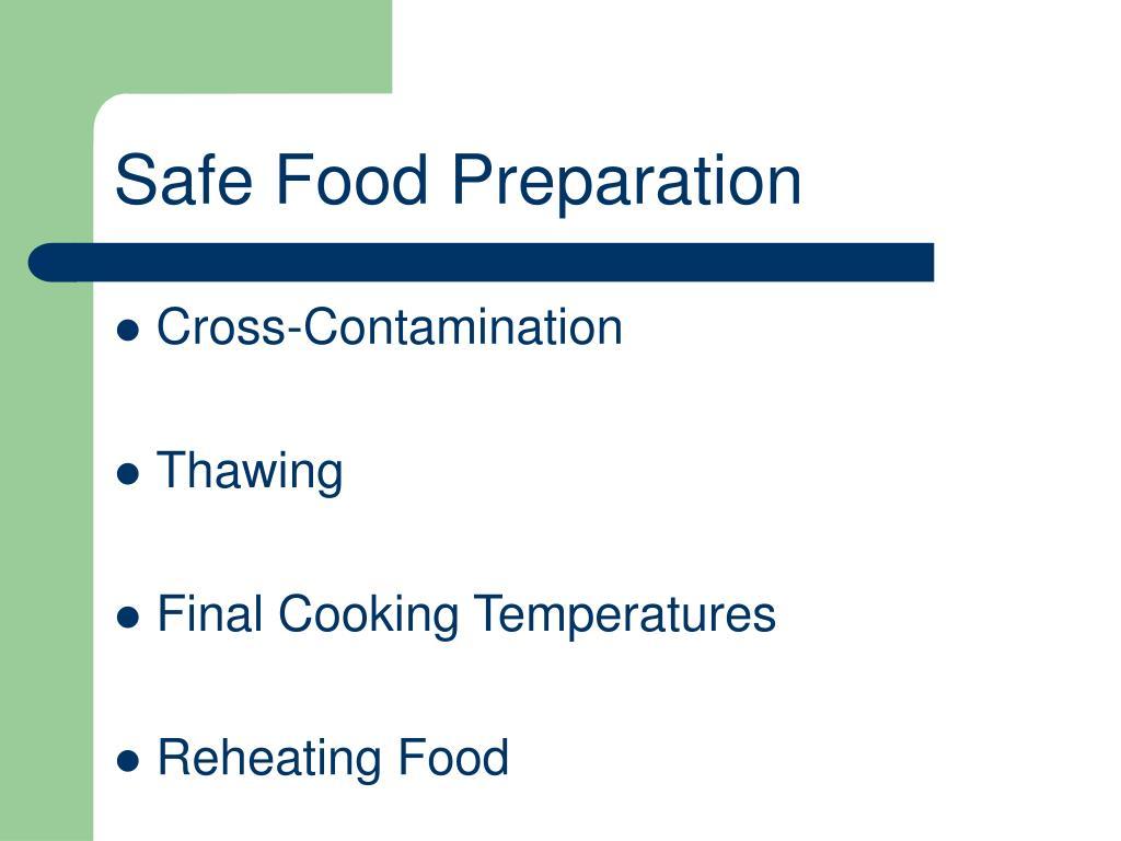 Safe Food Preparation