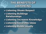 the benefits of listening