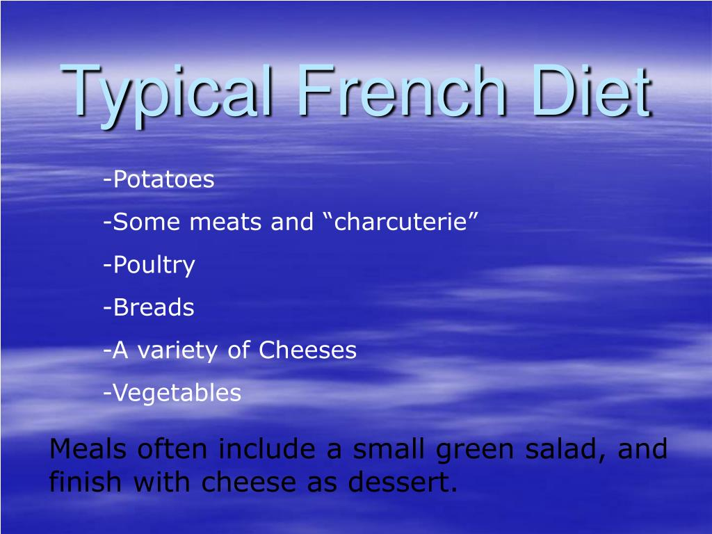 Typical French Diet