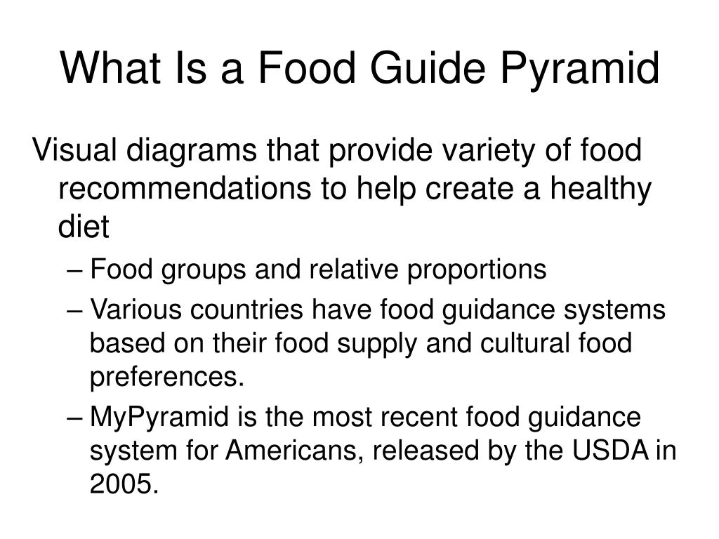 What Is a Food Guide Pyramid