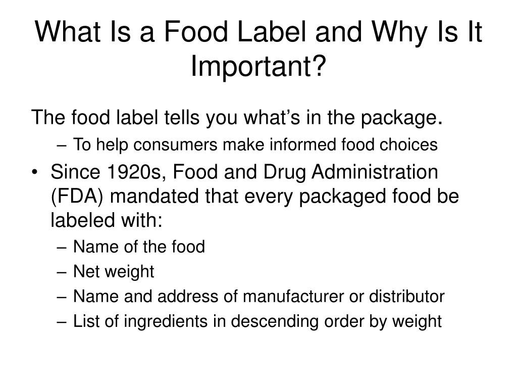 What Is a Food Label and Why Is It Important?